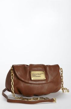 comes in purple! MARC BY MARC JACOBS 'Classic Q - Karlie' Crossbody Flap Bag available at #Nordstrom