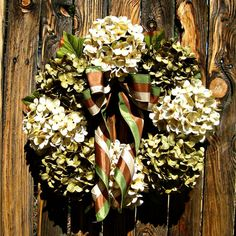 Hydrangea Wreath  Year Round Wreath  Green and by Frontporchdecor, $64.00