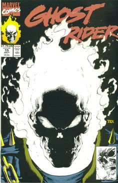 Ghost Rider Vol 2 #15 - Cover by Mark Texeira. I have this comic, all the white glows in the dark. Awesome cover.