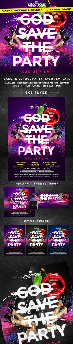 Halloween Zombie Party Flyer Template PSD #design Download http - party flyer template
