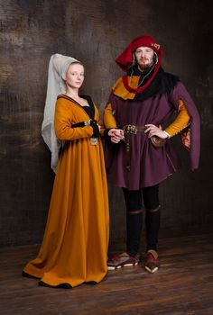 Burgundian robe dress Europe 15th century by RoyalTailor on Etsy