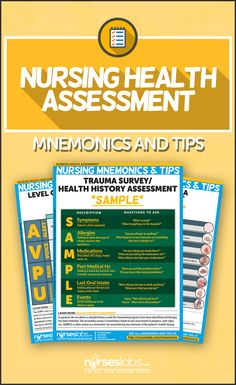 Here are nursing health assessment mnemonics & tips you can use to accurately and quickly assess variety of patients in with different conditions and in various situations. Visit: http://nurseslabs.com/nursing-health-assessment-mnemonics-tips/
