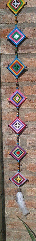 mandalas de lana cuelga