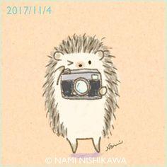 "Say ""cheese!"" Hedgehog with a camera! Kawaii Drawings, Doodle Drawings, Doodle Art, Easy Drawings, Animal Drawings, Hedgehog Day, Hedgehog Drawing, Cute Hedgehog, Hedgehog Illustration"