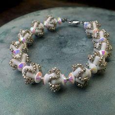 """Technical"" bracelet - Rulla beads, Matsuno seed beads, FP rondelles"