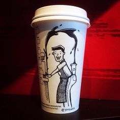Topical Coffee Cup Art by YOYOHA | Killer Kitsch