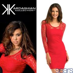 #Glam & #Chic New Lace Body-Con Dress NOW Available on sears.com/Kardashian and Sears Stores! Kourtney looking fab