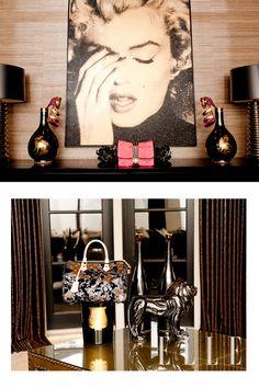ELLE & The Coveteur: Khloe Kardashian, wall art
