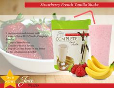 Try a Juice PLUS Complete Strawberry Banana Shake! Blend and enjoy! Like and Share.