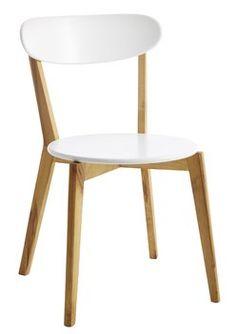 Ruokapöydän tuoli NEBEL luonnonvalk/valk   JYSK