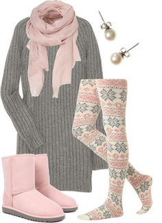 """Comfy Cozy"" by qtpiekelso on Polyvore - love this idea for a winter preggers outfit!!!"