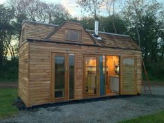 Converted shipping container tiny home.