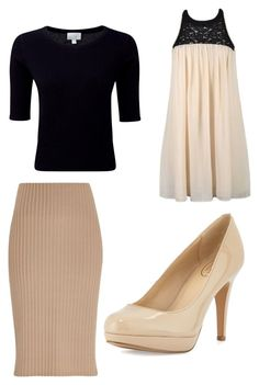 """""""Dressy Sunday outfit"""" by pentecostalgirl1234 ❤ liked on Polyvore featuring Ally Fashion, Pure Collection, River Island and Circa Joan & David"""