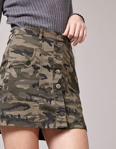 At Stradivarius you'll find 1 Camouflage print skirt for woman for just 17.95 Finland . Visit now to discover this and more CLOTHING.