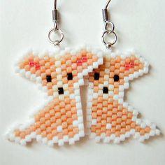 Les boucles d'oreilles de Chihuahua chien, graine perle animaux bijoux, boucles d'oreilles hypoallergéniques