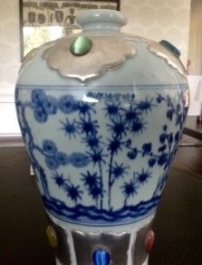 Rare Meiping vase, Xuande  style.  The porcelain body has the features of Xuande blue and white porcelain and heavier than those similar artifacts made in Yongle Period, designed in regular and generous shape, and had hard and white quality of porcelain.  The glaze has also the features of Xuande blue and white porcelain: the glaze of Xuande blue and white porcelain is hyper-thick. It is usually not very flat, like orange peel. The color of glaze has mostly a pale greenish tinge out of…