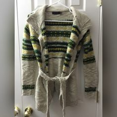 The Limited - Chunky Sweater This sweater will keep you warm during the cold season. It has a very springy and neutral color which can be easily paired with anything! It can be worn with or without the belt. The Limited Sweaters Cardigans