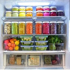 with the rainbow fridge! Eat the rainbow! Wait sounds like a skittles thing? Anyways you know what we mean 😁 happy prepping! Refrigerator Organization, Recipe Organization, Pantry Organization, Organized Fridge, Refrigerator Storage, Organizing Ideas, How To Organize Fridge, Storage Organizers, Staying Organized