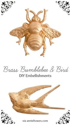 Love these, I could use them on greeting cards or atop boxes. Awesome brass embellishments.