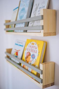Children's Book Wall Shelf, Wall Shelf, Floating Shelf, Shelf for kids Wall Bookshelves Kids, Diy Bookshelf Wall, Hanging Bookshelves, Nursery Bookshelf, Floating Bookshelves, Wall Shelves, Wood Shelf, Book Racks, Book Wall