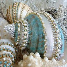 More blinged out seashells