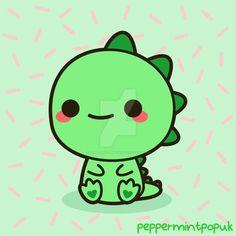 Kawaii dinosaur by peppermint-pop-uk on DeviantArt