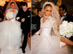Lace wedding gown - Nicole Richie  {SHE} Shayla Hawkins Events   THINGS {SHE} LOVES: Pittsburgh Wedding Planners | Celeb Gowns (http://shaylahawkinsevents.blogspot.com/2014/05/pittsburgh-wedding-planners-celebs-love.html)