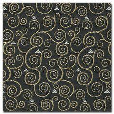 Kravet Cotton Rayon Black Gustav Klimt : Au Fil de l& Antiques Art Deco Fabric, Gustav Klimt, Black Art, Quilting Designs, Belgium, Upholstery, Antiques, Wallpaper, Modern