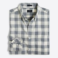 Cotton. Slim fit, cut more narrowly through the body and sleeves. Button-down collar. Machine wash. Import.