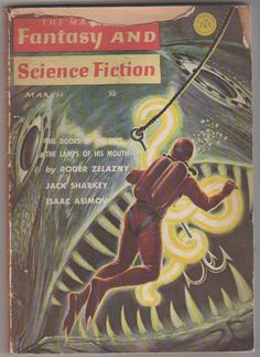 The Magazine of Fantasy and Science Fiction V by RubbersuitStudios, $2.95 #pulpmagazines #rogerzelazny