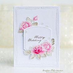 ⭐And my another card for the #altenewchallenge with #AltenewVintageRoses stamp set from @altenewllc and @studiokatiainc #creativedies and sequins ⭐И еще розово-серая открытка, на которую меня вдохновила @katerina_elizbaryan