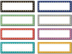 """Marquee Labels Magnetic Accents - Decorate your whiteboard in a snap with durable, reusable magnetic decor! Add flair to any magnetic receptive surface such as doors, desks, shelving, and bins. Measures about 4 3/4"""" x 1 1/2"""". 8 colors. 20 pieces per pack."""