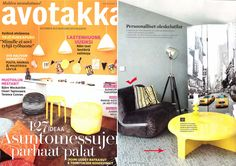 Fin magazine AVOTAKKA in August 2012 issue, introduces BOOMERANG armchair and 4/4 coffee table both design by Rodolfo Bonetto in 1968.