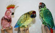 Golden Swann Swarovski Crystal Parrots