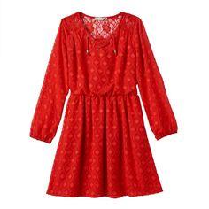 Girls Plus Size Speechless Clip-Dot Dress, Girl's, Size:
