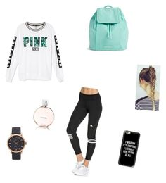 """""""school"""" by vmarieoffical ❤ liked on Polyvore featuring Victoria's Secret, adidas, Chanel, Vera Bradley, Marc Jacobs and Casetify"""