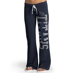 '47 Brand Tennessee Titans Womens Navy Blue Pants