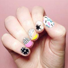 I ❤ NAILS BLOG — Abstract nails inspired by Ashley Goldberg's...