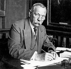 Sir Arthur Conan Doyle (1859-1930), a Scottish physician, worked as surgical assistant on an Arctic whaler; later as an ophthalmologist before becoming a full-time author. His medical bckgnd + keen skills of observation & diagnosis permeate his fictional work, notably in his character, Sherlock Holmes, who was inspired by Doyle's mentor, Dr. Joseph Bell, a physician famous for his profound insights into human behavior + inductive and deductive reasoning. Photo by Sarah Bentzin