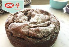 4 ingredient Nutella Crackle Cake