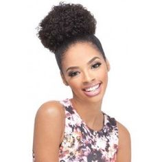 Outre Timeless Premium Multi Blend Afro Puff Ponytail - Afro Small Self styled in 60 seconds. Style color shown: 2 Dark Brown Best Hair Growth Oil, Afro Ponytail, Curly Hair Styles, Natural Hair Styles, Natural Beauty, Drawstring Ponytail, Hair Puff, Afro Style, Afro Hairstyles