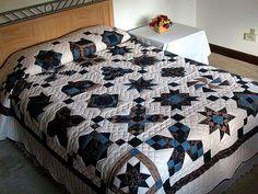 Лоскутное Одеяло Sampler - великолепная сделал с осторожностью амишей одеяла из Ланкастера (hs336)