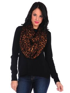 Theodora & Callum Ombre Leopard Infinity Scarf $165 The Great Clothing, Pink Mascara, Leopard Scarf, Joes Jeans, J Brand, Turtle Neck, Infinity, Denim, My Style