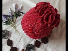 Как связать шапочку с рюшами. How to tie a hat with ruffles. - YouTube