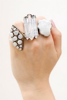 Complacency Kills: Erin Wasson's Low Luv Crystal Rings and Necklace