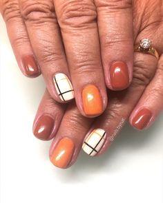 Simple Fall Nails, Fall Gel Nails, Fall Nail Polish, Cute Nails For Fall, Fall Manicure, Fall Acrylic Nails, Manicure Ideas, Gel Polish, Nail Art For Fall