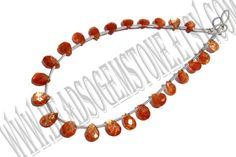 Sunstone Faceted Pear Quality AAA / 18 cm / 3 to by beadsogemstone, $13.20