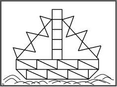* Mozaïek: Op gekleurd papier afdrukken mozaïek erop laten leggen of laten op- na-plakken. 9-9