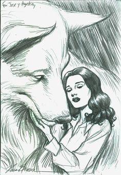 Russ Braun-Snow White&Bigby Wolf (Fables) Artist: Russ Braun (Penciller)