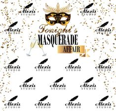 Anniversary Step and Repeat Red Carpet Backdrop, Event Banner, Masquerade, Repeat, Affair, Playing Cards, Anniversary, Templates, Stencils